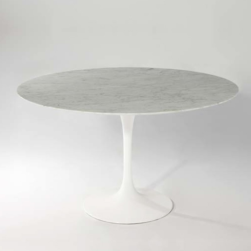 table tulipe ronde blanche