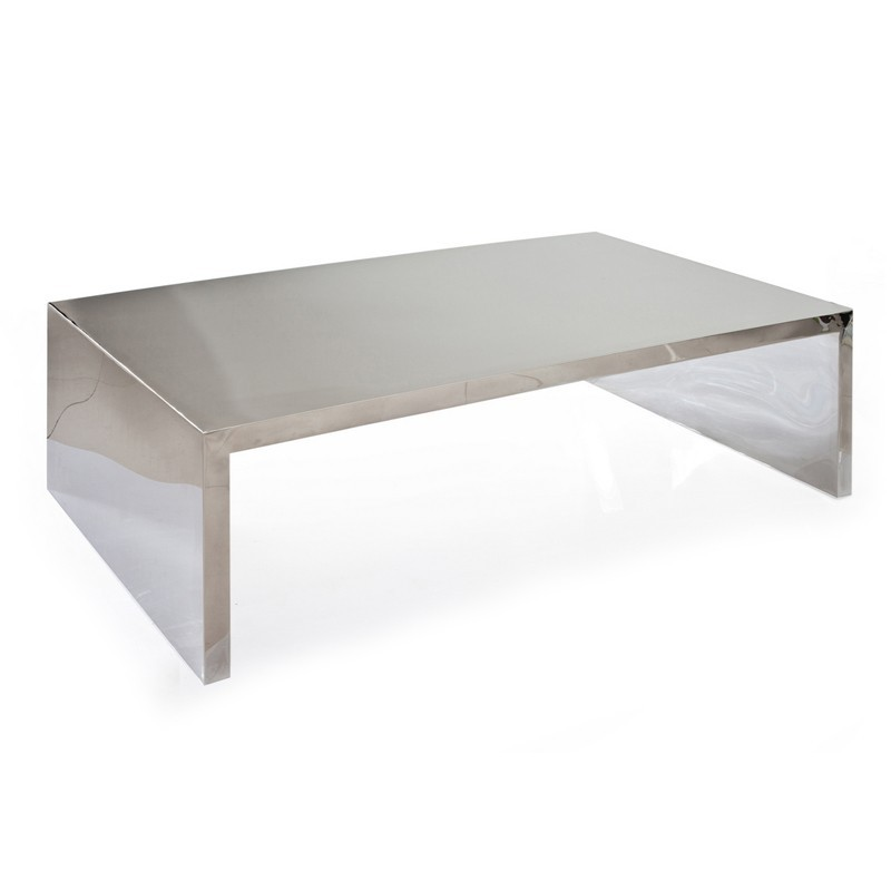 table basse en inox