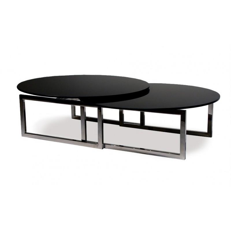 Table basse extensible noire