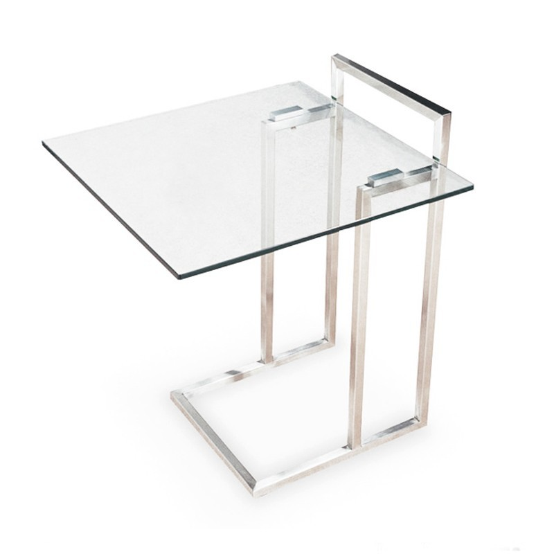 Table d'appoint en verre transparent