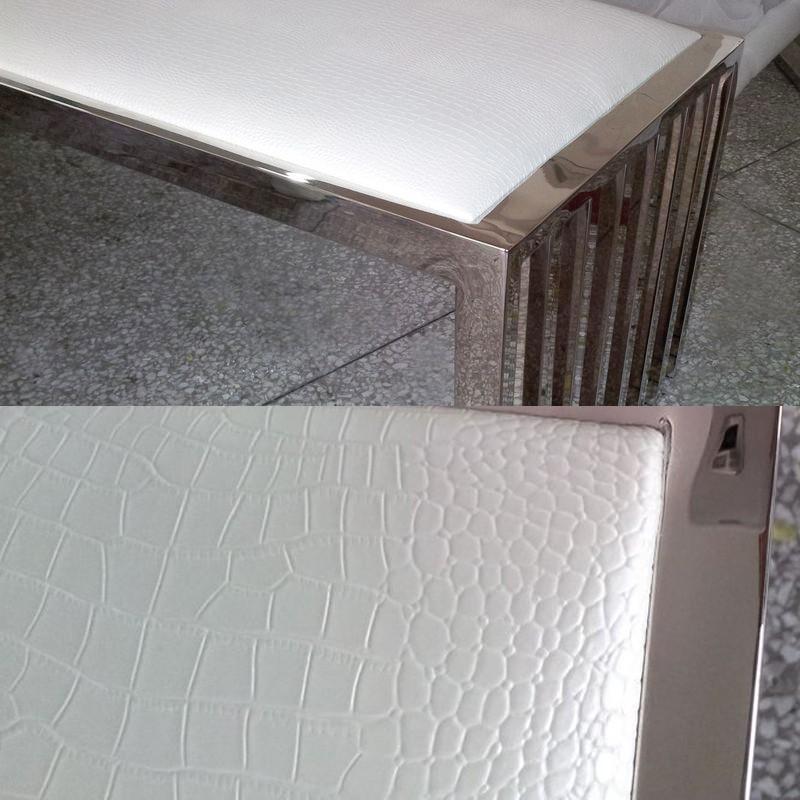 Meubles design banc contemporain en inox poli brillant for Banc inox design