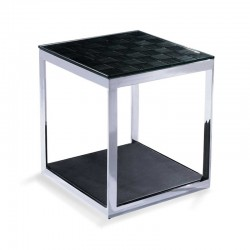 Petite Table Simili Cuir WILFRED