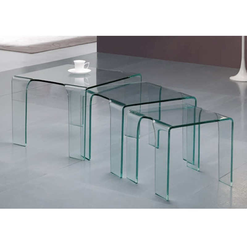 table gigogne verre
