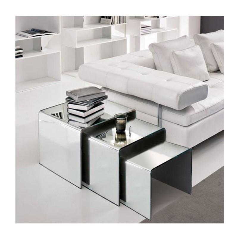 lot de 3 tables gigognes design armoz. Black Bedroom Furniture Sets. Home Design Ideas