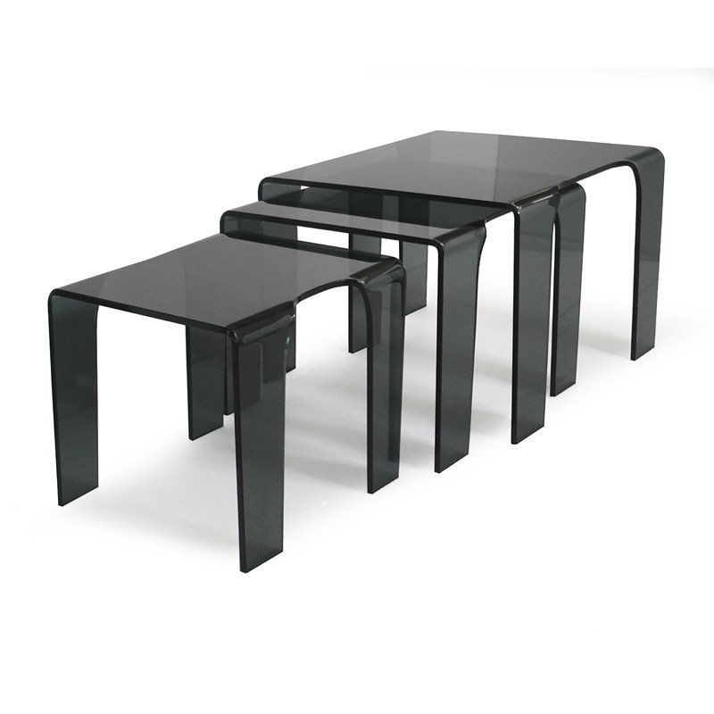 table gigogne en verre tank prix d 39 usine designement. Black Bedroom Furniture Sets. Home Design Ideas