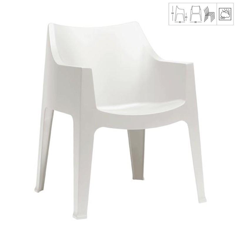 fauteuil de jardin blanc