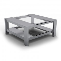 Table Basse Inox Carrée TOSCO