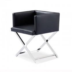 Chaise simili cuir - Amiel