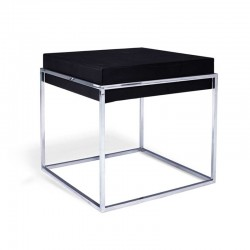 table d'appoint en simili cuir