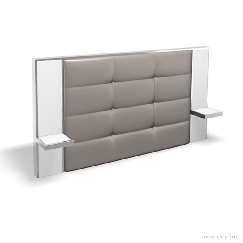 tete de lit avec table de chevet integre. Black Bedroom Furniture Sets. Home Design Ideas