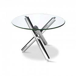 Table Ronde Pied Inox RUBIS