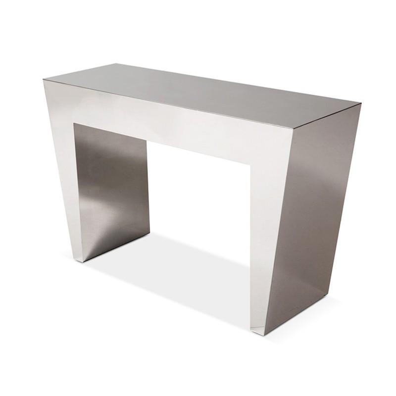 console métallique en inox