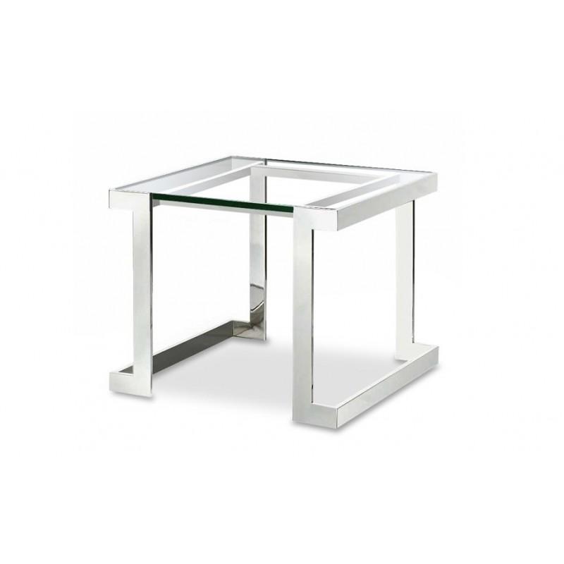 table d'appoint design en verre noir