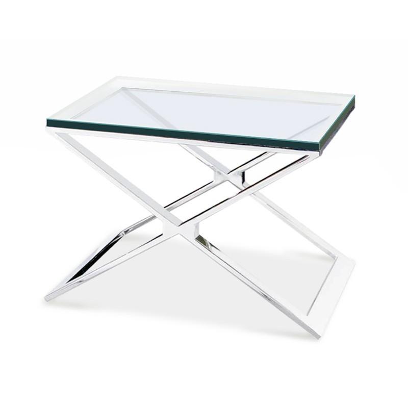 Table d 39 appoint transparente waldo for Table de nuit transparente