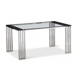 Table en verre transparent