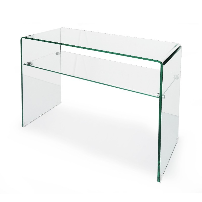 Table console en verre transparente joni prix d 39 usine - Console transparente design ...