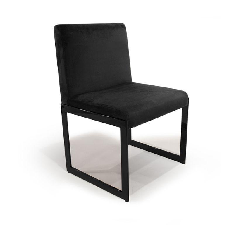 Chaise design en simili cuir blanc