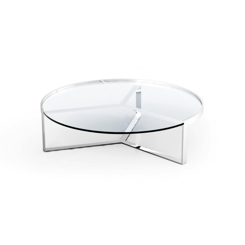 Table basse ronde transparente