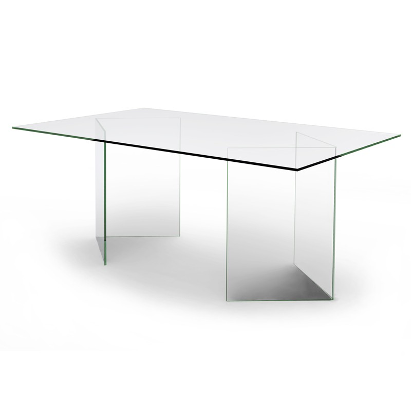 Table bureau verre for Bureau table