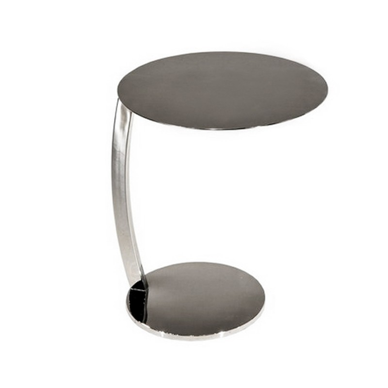 table d'appoint en inox massif