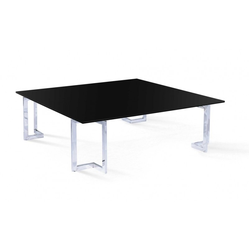 Table basse en verre noir